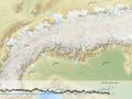 Zrzut ekranu filmu przedstawiającego zmiany lądolodu alpejskiego na przestrzeni 120 tysięcy lat - under Creative Commons license