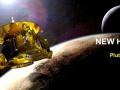 Sonda kosmiczna New Horizons na tle Plutona