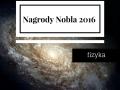 Nagrody Nobla 2016 – fizyka