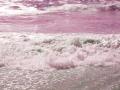 Różowy ocean (efekt świetlny), współczesna fotografia. Źródło: Pinterest