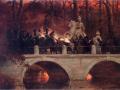 Wojciech Kossak, Starcie belwederczyków z kirasjerami rosyjskimi na moście w Łazienkach 29 listopada 1830 roku