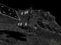 Artystyczna wizja impaktu sondy Rosetta z kometą 67P/Czuriumow-Gierasimienko. Fot. ESA/ATG medialab