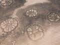 Zespół kamiennych struktur przedstawiających koła ze sprychami  w Azraq Oasis w Jordanii. Fot. David D. Boyer APAAME_20080925_DDB-0237