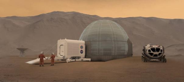 Artystyczna wizja Mars Ice Dome. Fot. NASA/Clouds AO/SEArch