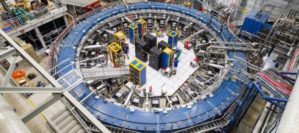 Nadprzewodzący magnetyczny pierścień w Fermi National Accelerator Laboratory | Image credit: Reidar Hahn, Fermilab